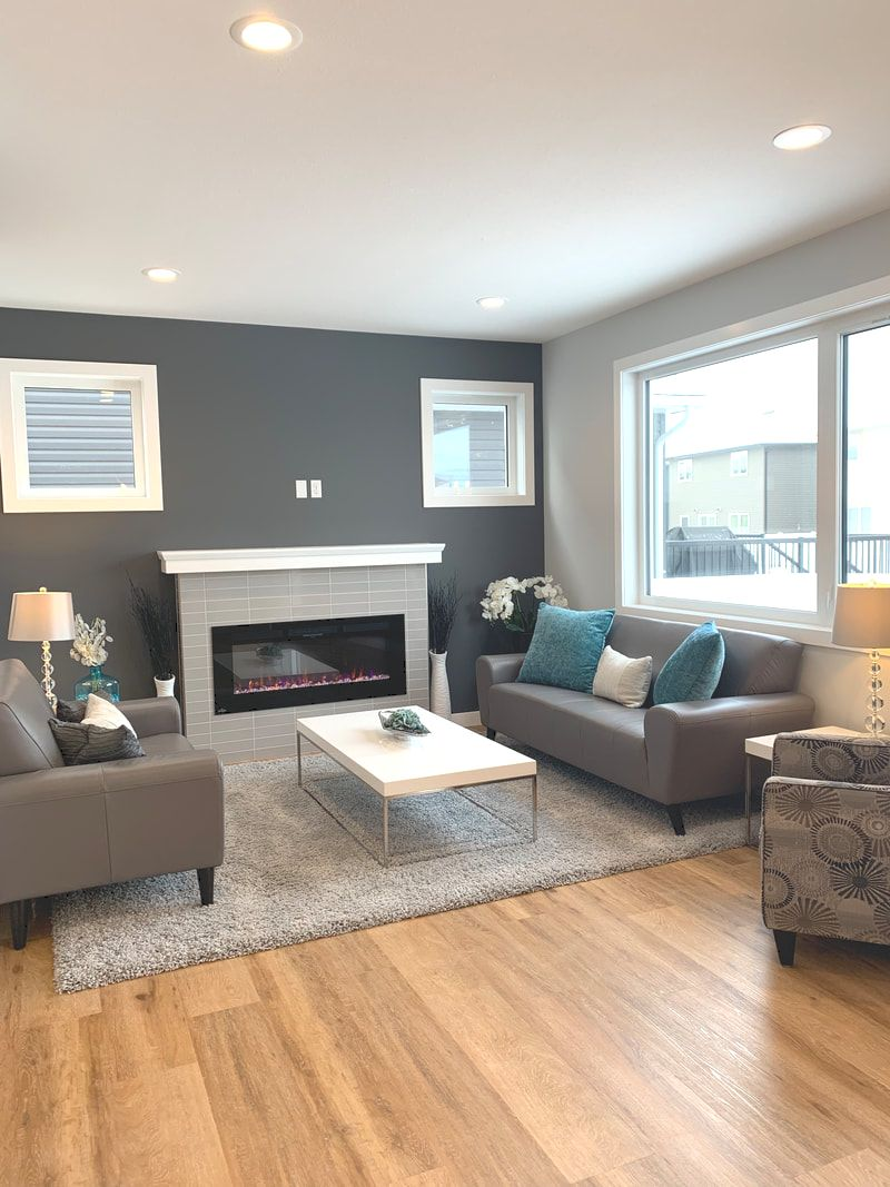 Streetscape New Home For Sale Living Room Photo